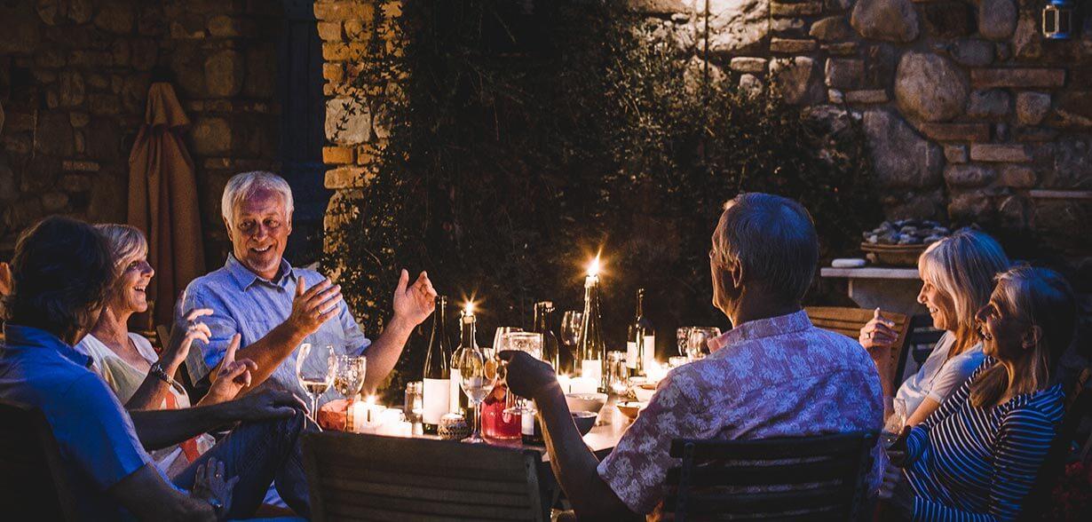가족들과 함께 저녁식사