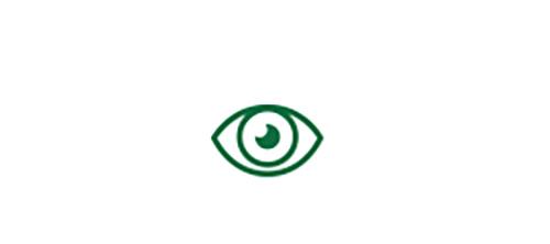 우수한 시력을 가리키는 눈 아이콘